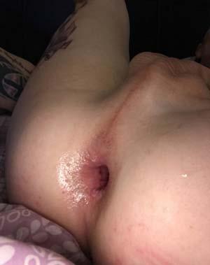 Transex passive à l'anus défiguré / dilaté extrême